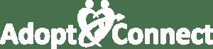Adopt Connect white logo