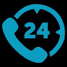 24 hour hotline icon