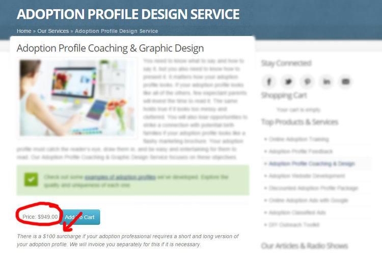Adoption profile design service