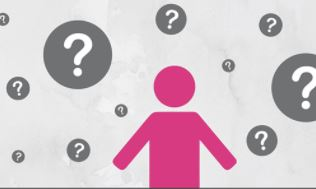 pink stick figure with question marks